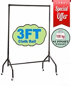 HEAVY DUTY 3FT WIDE CLOTHES RAILS GARMENT FOR HOME SHOP STORAGE DISPLAY 630/AAA