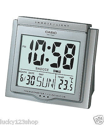 DQ-750F-8D Silver Digital Home Clock Tracel Thermometer Alarm Snooza New