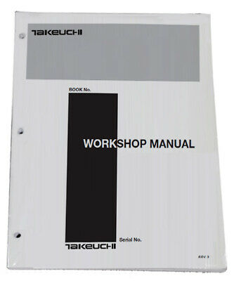 Takeuchi Tl130 Crawler Loader Workshop Service Repair Shop Manual