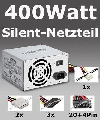 Teile, Computer-netzteil (PC Netzteil 400W Power 400 Watt ATX Computer Strom SATA sehr leise Silent Neu)