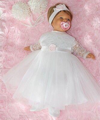 (Nr.0ta23) Taufkleid Festkleid Taufgewand Kleid Taufe Hochzeit Babykleid Taufset
