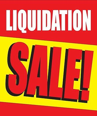 Liquidation Sale 18 X24  Store Business Retail Discount Promotion Signs