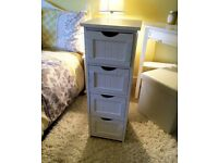 White Wooden Storage Cabinet