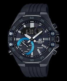 Casio Edifice Bluetooth Men's Watch with Black Resin Strap - Immaculate Condition, As New