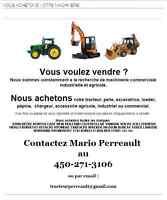 Achat et recherche  machinerie lourde industriel et agricole
