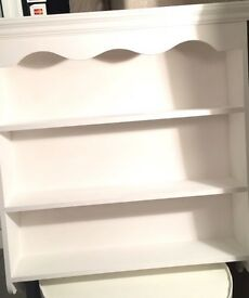 White painted kitchen shelf unit. Reduced to £39.00