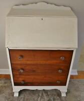Vintage Refinished Bureau Desk