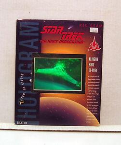 1994-Star-Trek-Next-Generation-Klingon-Bird-of-Prey-Matted-Hologram-L7746