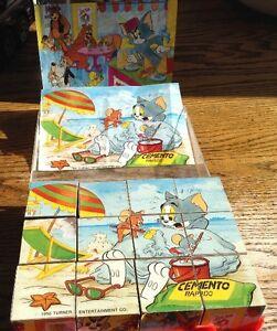 VERY RARE 1990 TOM AND JERRY CLEMENTONI FRANCE PUZZLE CUBES Gatineau Ottawa / Gatineau Area image 2