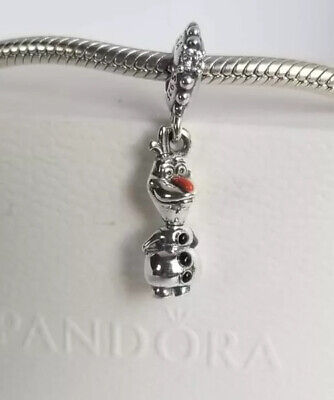 PANDORA CHARM DISNEY FROZEN OLAF DANGLE #798455CO1 AUTHENTIC NWT BOX 925 -
