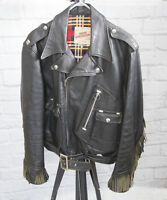 Vintage 1960s Wind Cheater British Mfg. Co. Leather Jacket