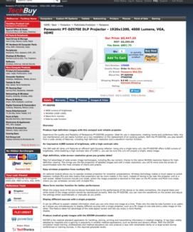 HALF PRICE !!! Panasonic PT-DZ570 commercial use Projector