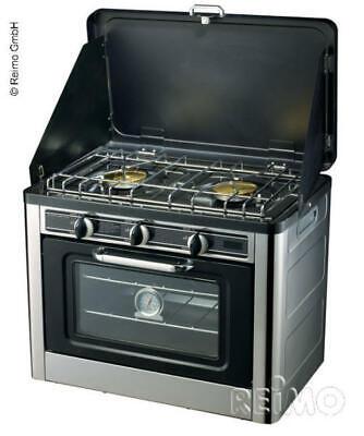 Horno + Cocina de Gas 2-flammig, Para Camping Caravana Bus Furgoneta Con...