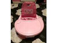 Disney princesses booster seat / highchair. Excellent condition.