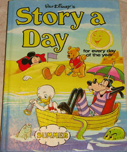 2 Disney Story A Day Hard Cover Book London Ontario image 1