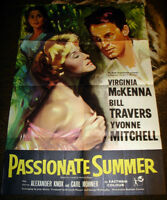 1958 UK BRITISH ROMANCE PASSIONATE SUMMER MOVIE THEATRE POSTER