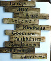 Fruit of the Spirit wooden hand-painted sign for sale