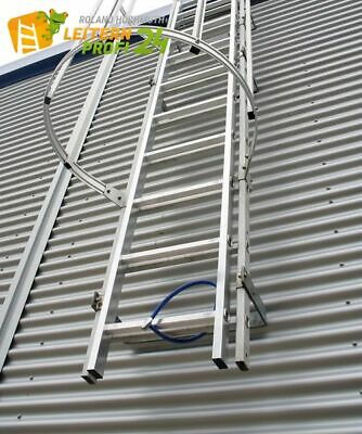 Günzburger Einzügige Steigleiter ohne und mit Rückenschutz, Stahl verzinkt