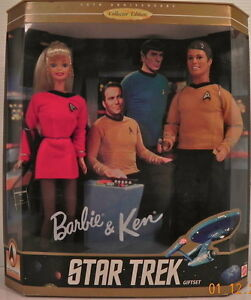 STAR TREK BARBIE & KEN gift set
