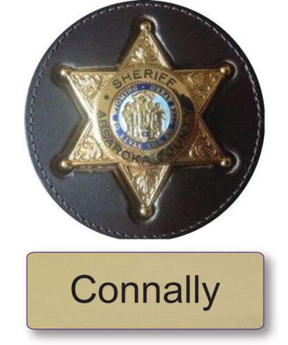 "CONNALLY LONGMIRE NAME BADGE & Deputy 3"" BUTTON HALLOWEEN COSTUME PIN BACK"