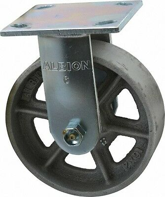 Albion 6 Inch Diameter X 2 Inch Wide Rigid Caster With Top Plate Mount 7-14...