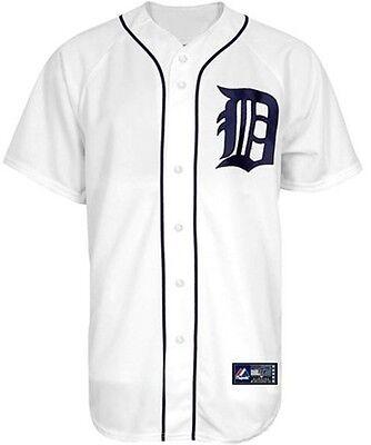 Detroit Tigers MLB Home White Majestic Replica Men's Jersey Big & Tall Sizes (Detroit Tigers White Majestic Jersey)