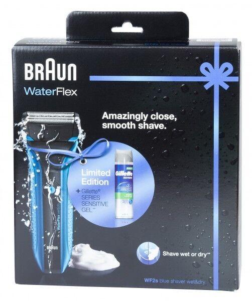 Braun WaterFlex WF2s Wet&Dry Elektrorasierer mit Gillette Series Sensitive Gel