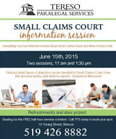 Small Claims Court Information Session