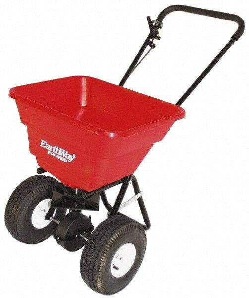 Made in USA 80 Lb. Capacity, Polyethylene Walk Behind Broadcast Spreader 10 I...