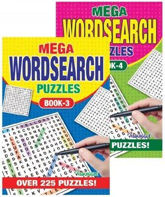 2 X A5 Mega WordSearch Puzzle Books 500 Puzzles Pages Super Trivia Book 3&4