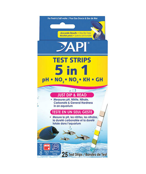 How to read 5 in 1 aquarium test strips ebay for Fish tank test strips