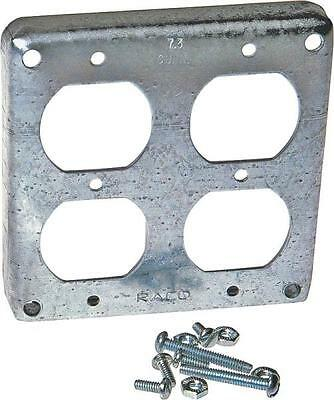 Lot 10 Raco 907c Metal 4 2 Duplex Receptacles Electrical Box Covers 6132880