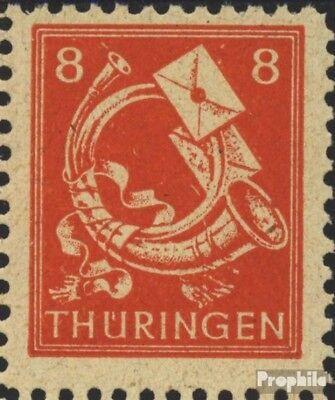 Sovjet Zone (Allied.Cast.) 96III, fractionele Trechter rechts (Veld 95) postfris