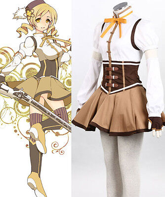 Tomoe Mami Puella Magi Madoka Magica Magical Girl of Magus cosplay kostüm neu (Tomoe Mami Kostüm)