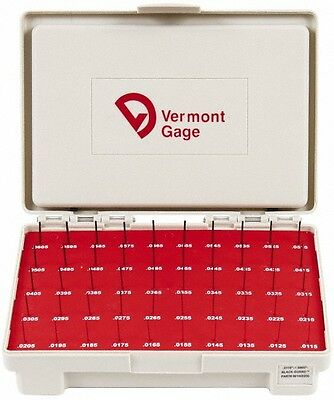 Vermont Gage 50 Piece 0.0115-0.0605 Inch Diameter Plug And Pin Gage Set Minu...