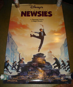1992 WALT DISNEY CHRISTIAN BALE NEWSIES DB MOVIE THEATRE POSTER