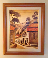 Sunset Town South America Painting