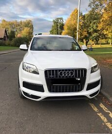 Audi Q7 S Line Quattro, 60 plate, high spec, white, automatic