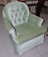 Light Mint Green Swivel Rocker Tub Chair