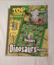 TOP TRUMPS DINOSAURS 50 PIECE PUZZLE WITH PACK OF 20 TOP TRUMPS CARDS