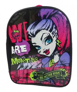 MONSTER HIGH 'WE ARE MONSTERS' SCHOOL BAG RUCKSACK BACKPACK (FREE P+P)