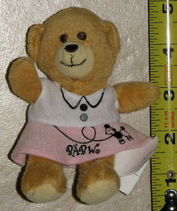 Brown Teddy Bear in Pink Skirt by Build A Bear