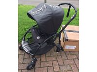 NEW Unused Bugaboo Bee 3 by Diesel Black Rock, with box, new raincover. Can meet or deliver.