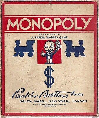 id vintage monopoly games
