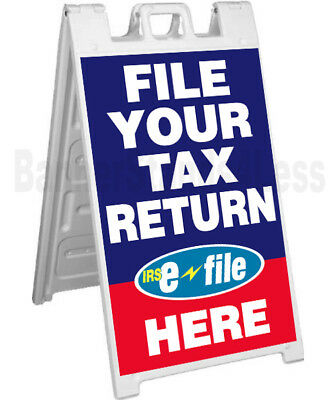 Signicade A-frame Sidewalk Sign Pavement Sign File Your Tax Return Here Bb