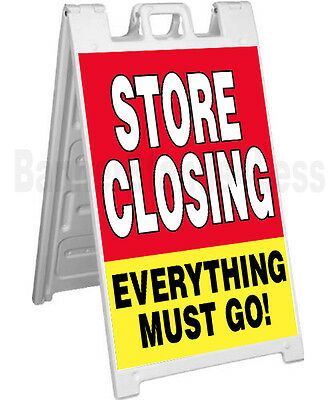Store Closing A-frame Sidewalk Sign Going Out Of Business Pavement Signicade