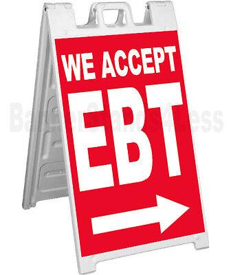 Signicade A-frame Sign Sidewalk Pavement Sign - We Accept Ebt Rb