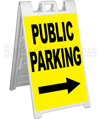 Signicade A-frame Sign Sidewalk Sandwich Pavement Event Sign - Publc Parking Yb