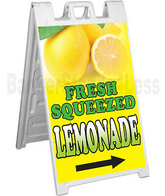 Signicade A-frame Sign Sidewalk Sandwich Pavement Sign Fresh Squeezed Lemonade
