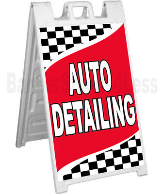 Auto Detailing Sidewalk Sign A-frame Pavement Banner Street Sign Signicade - Rb
